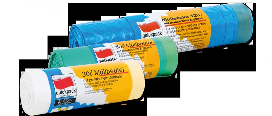 Müllsäcke Mülleimerbeutel Bio Müllbeutel 10-70 Liter Farben Größen Stärken